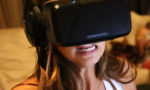 Girl with Oculus Rift DK2 Headset