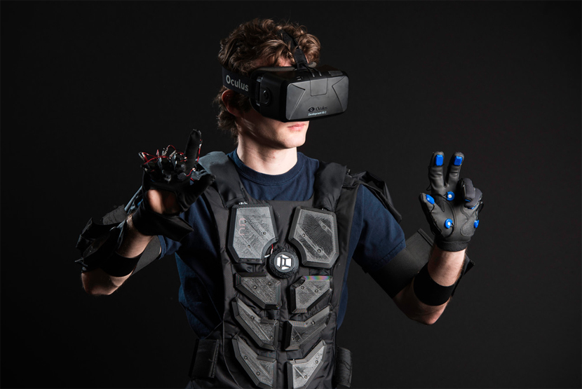 Nullspace VR is a full upper body haptic feedback system for VR applications, you can wear this suit and feel virtual reality on your hands, arms and chest.