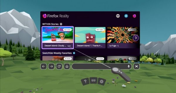 Firefox Reality Available for Daydream and Oculus Rift Browsers