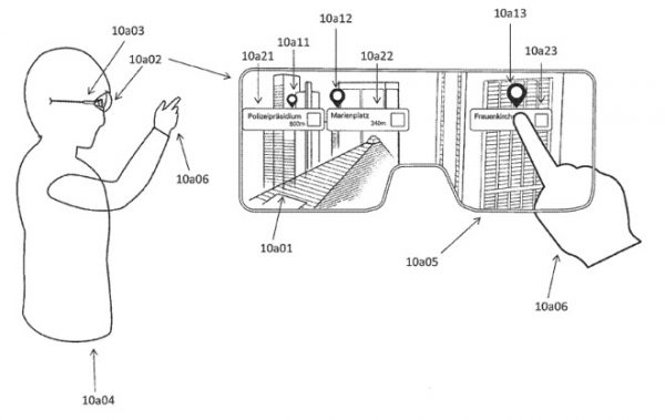 Apple Patent Point of Interest Illustration of how the system could work in hypothetical smart glasses