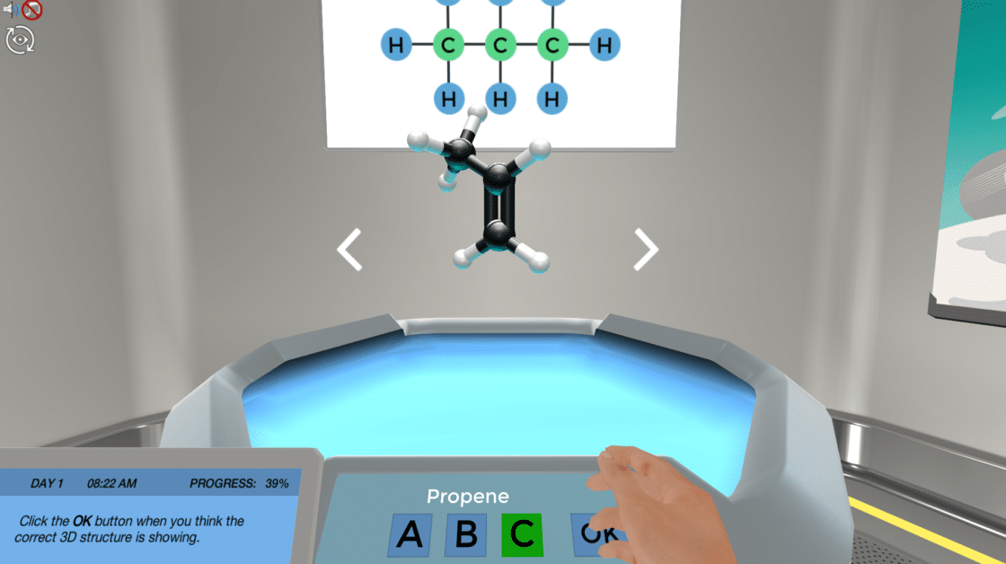 A Labster Simulation for Organic Chemistry