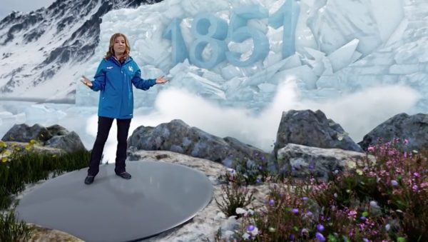 The Weather Channel Immersive Mixed Reality Image Showing Glacial Loss in Greenland