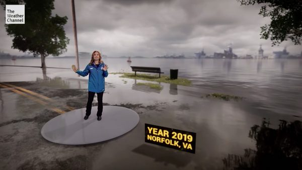 The Weather Channel Rendition of Norfolk Virginia