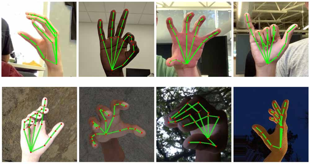 Google AI hand and finger tracking