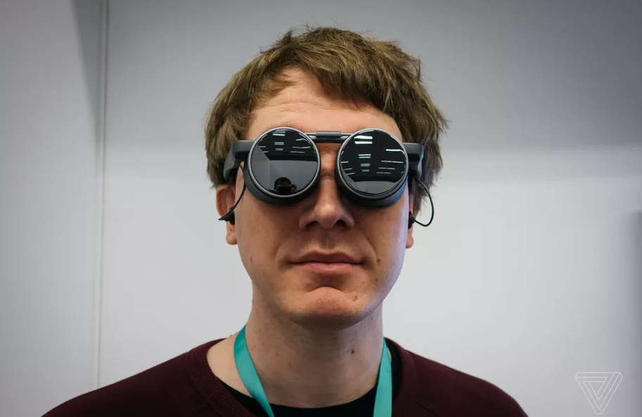The Panasonic VR Glasses have a Steampunk Aviator Look
