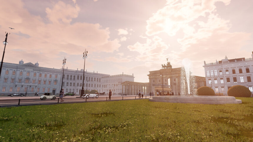 Pariser Platz was reconstructed based on the architectural plans