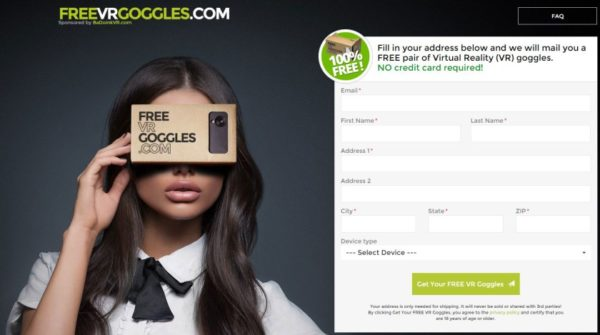 Want A Free Cardboard Vr Headset One Vr Porn Site Offers Them  Virtual Reality Times-8456
