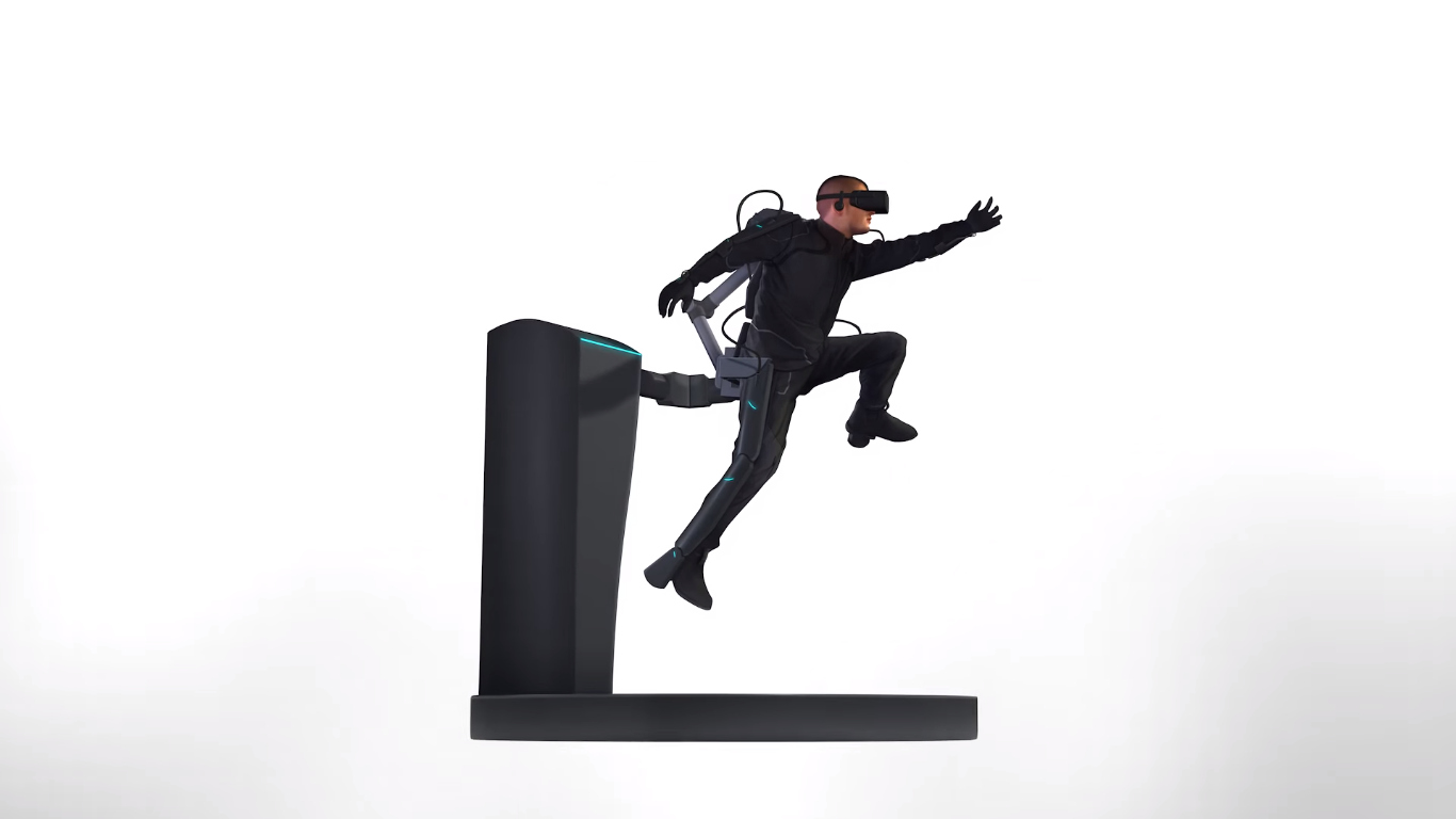 The HaptX Skeleton is a lightweight exoskeleton that further extends the immersion by applying physical forces to people's bodies.