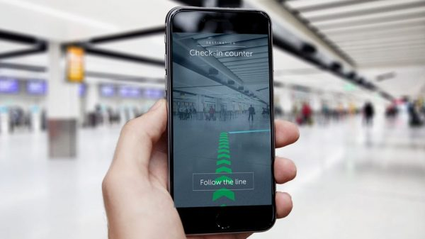 Gatwick Airport Augmented Reality Wayfinding App