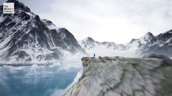 The Weather Channel IMR Illustrating the Glacial Loss at Jakobshavn Glacier