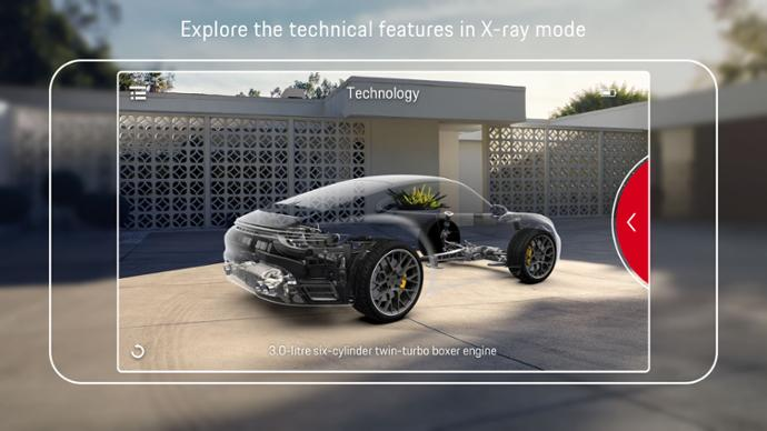 "Customers can view the technical details of the car hitherto hidden from view through the ""highlight function"""