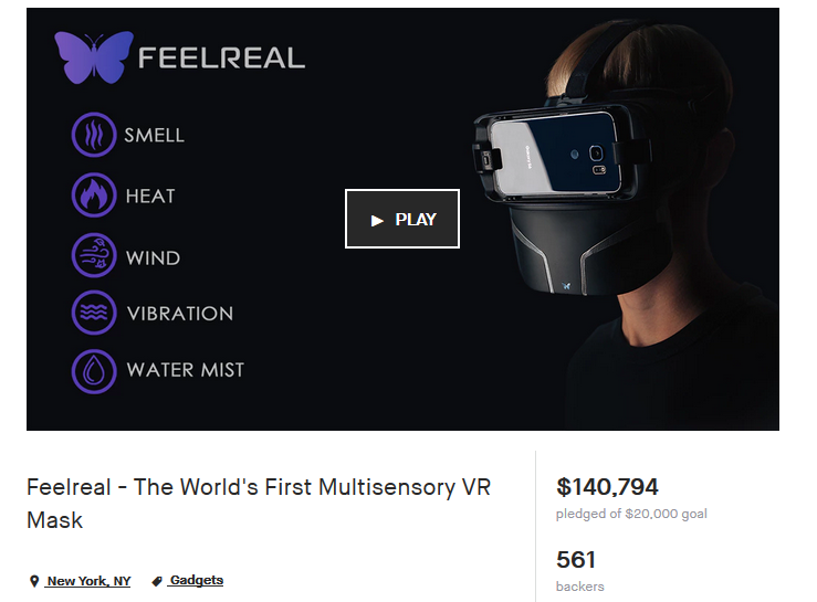 FeelReal Kickstarter Campaign