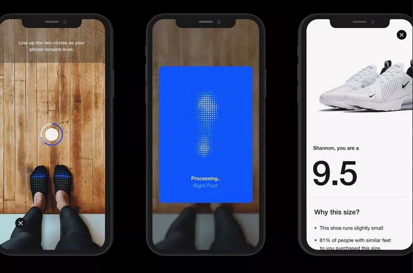 Get the right shoe size the first time with the Nike Fit feature