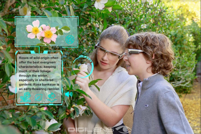 The DigiLens Holographic technology can also help users in augmenting their world