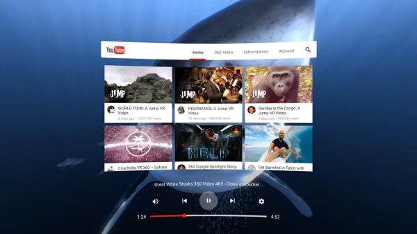 The Youtube VR app