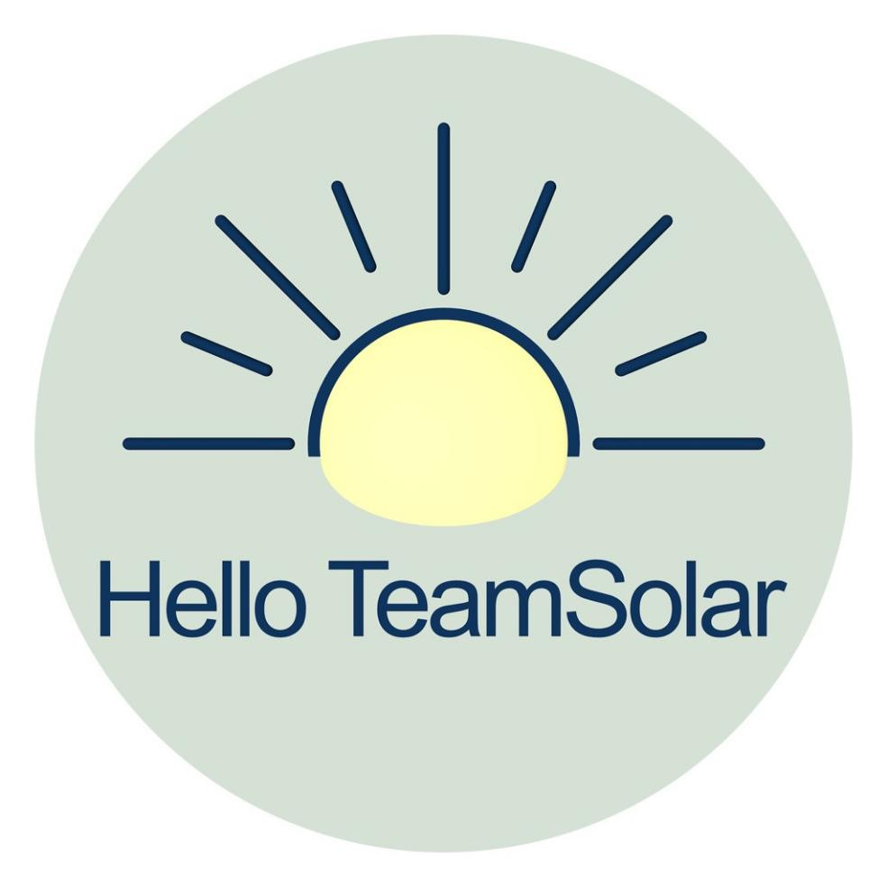 Hello TeamSolar