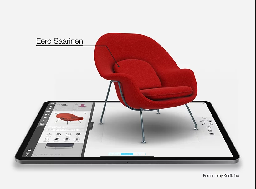Morpholio partnered with Knoll to deliver the modern designs in AR