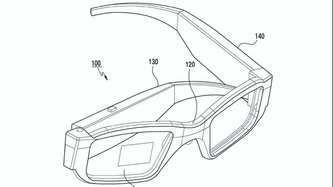 Samsung Files Patent for AR Glasses with Frame Activated Screens