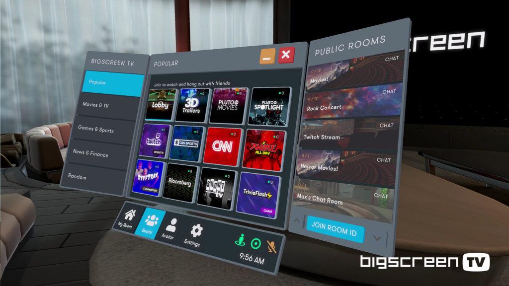 The Bigscreen TV User Interface
