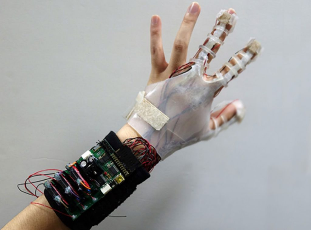 The Virtual Reality Glove Prototype