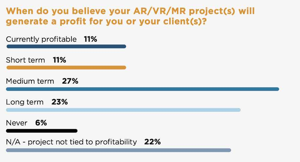 Profitability expectations for XR developers