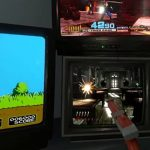Retro-Intoxication as Fans Play Three Different Light Gun Games Simultaneously