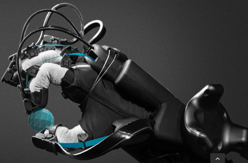 HaptX VR Gloves deliver a powerful force feedback